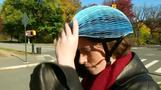 EcoHelmet is a foldable, recyclable helmet for bike share