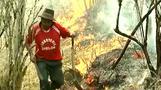 Wildfires rage in Peru