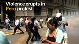 Peru protest by court workers ends in violence