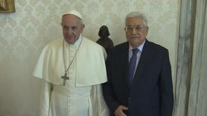 Pope Francis meets with Palestinian President Abbas