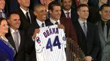 Obama welcomes World Series champion Cubs to White House