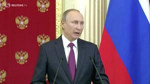 Putin scoffs at lurid Trump memo allegations