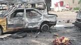 Baghdad residents assess the damage a day after major car bombing