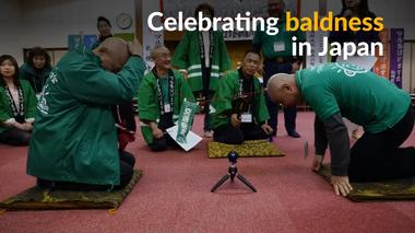 Bald is beautiful, says Japanese social club
