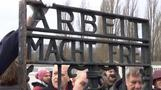 Stolen Nazi gate returns to concentration camp