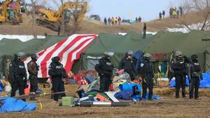 Dakota pipeline camp cleared