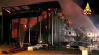 Shopping mall goes up in flames in northern Italy