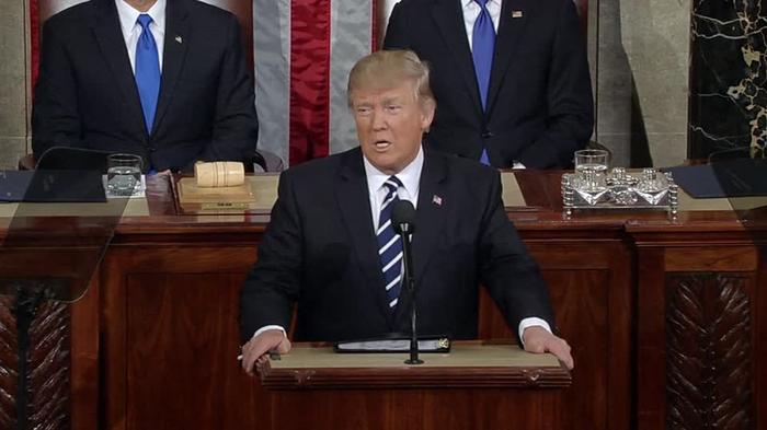 Trump begins address condemning Jewish center threats, Kansas shooting