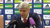 Wenger hints at Arsenal end game after West Brom loss