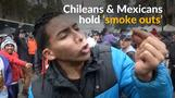 Chileans, Mexicans urge marijuana legalization on 'weed day'