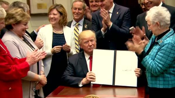 Trump orders rollback of 'federal power grab' in education