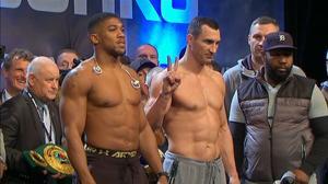 Anthony Joshua and Wladimir Klitschko weigh-in