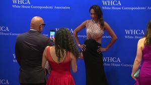 Stars arrive for Trump-less White House press dinner
