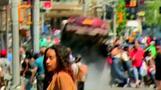 NYタイムズスクエアに車突っ込む、発生の瞬間をとらえる(18日)