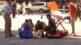 NYタイムズスクエアに車突っ込む、23人死傷(字幕・18日)
