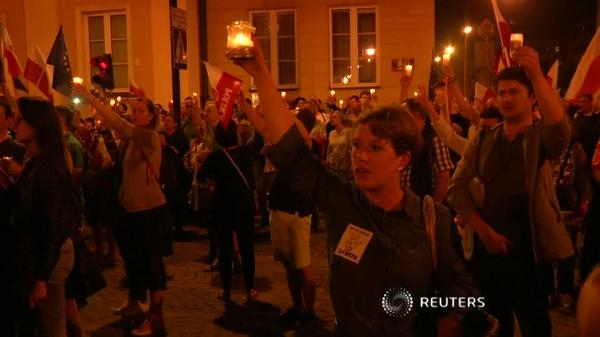 Poles demonstrate for fifth day against judiciary reform
