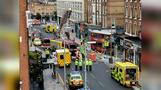 London double-decker bus crashes into building