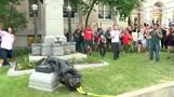 Protesters tear down Confederate statue in North Carolina