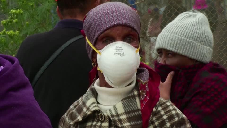 S. Africa's elderly crowd streets amid lockdown