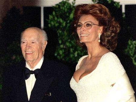 Sophia Loren with Husband Carlo Ponti, Sr.