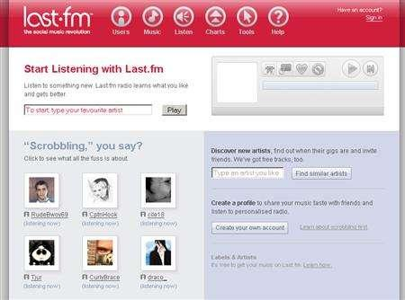 A screenshot of Last.fm, taken on February 6, 2007. Warner Music Group has signed a deal to allow its entire catalog to be played over the fast-growing social networking music service Last.fm, the innovative site that links music fans to new and old hits. REUTERS/www.last.fm