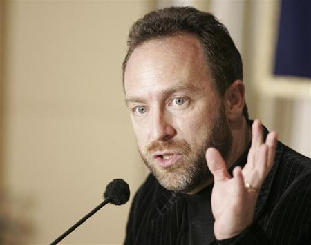 Wikipedia founder and Chairman of Wikia.com Jimmy Wales speaks during a news conference in Tokyo March 8, 2007. REUTERS/Michael Caronna