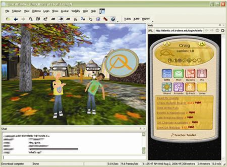 A screenshot from the video game ''Quest Atlantis'' in an image courtesy of the Center for Research on Learning and Technology at Indiana University's School of Education. Of all of the proposals aimed at improving America's failing schools, there's one idea kids will really like: More video games and fewer books. REUTERS/CRLT/Handout