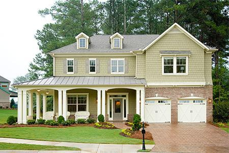 A home in Hampton Oaks, Georgia, in an undated photo. Sales of new homes unexpectedly fell 3.9 percent in February to the lowest rate in nearly seven years while the number of new homes on the market grew, according to a government report on Monday that showed more signs of weakness in the housing sector. REUTERS/File