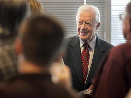 Former President Jimmy Carter in Las Vegas, October 20, 2006. The White House on Sunday fired back at Carter, calling him ''increasingly irrelevant'' a day after Carter described George Bush's presidency as the worst in history in international relations. REUTERS/Las Vegas Sun/Sam Morris