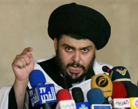 Iraq's Shi'ite cleric Moqtada al-Sadr speaks in Kufa, near Najaf, 160 km (100 miles) south of Baghdad May 25, 2007. REUTERS/Ali Abu Shish (IRAQ)
