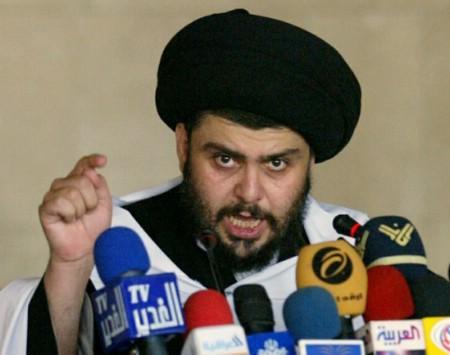 Iraq's Shi'ite cleric Moqtada al-Sadr speaks in Kufa, near Najaf, 160 km (100 miles) south of Baghdad May 25, 2007. REUTERS/Ali Abu Shish (IRAQ)