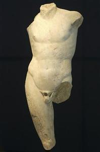 The torso of a marble statue of Apollo, dating back to the first century A.D., is displayed at Greece's National Archaeological Museum in Athens June 14, 2007. REUTERS/Yiorgos Karahalis
