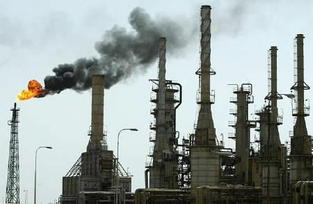 An oil refinery in Basra is seen in this undated file photo. Reuters