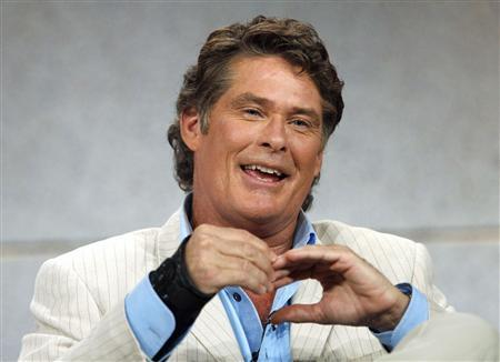 Judge David Hasselhoff smiles at the panel for ''America's Got Talent'' during the ''Television Critics Association'' tour in Pasadena, California, July 21, 2006 file photo. According to Nielsen Media Research data issued Tuesday NBC had the top two shows for the week in the 18-49 age group, ''America's Got Talent'' and ''Dateline.'' REUTERS/Mario Anzuoni