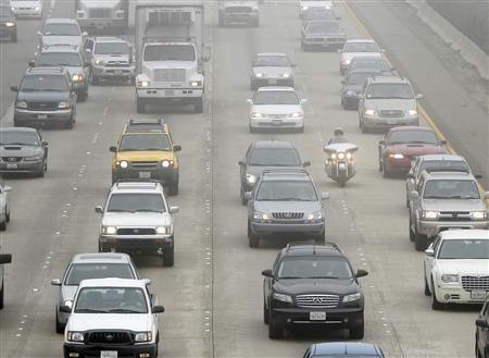 Commuters on Interstate 5 in a file photo. Californians idle in the nation's worst traffic jams on interstates surrounding major metropolitan areas but they are far from alone -- 52 percent of these urban stretches of highways are congested, according to a new study released on Thursday. REUTERS/Mike Blake