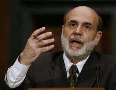 U.S. Federal Reserve Chairman Ben Bernanke speaks at a Senate Banking, Housing and Urban Affairs committee hearing in Washington July 19, 2007. REUTERS/Jason Reed (UNITED STATES)