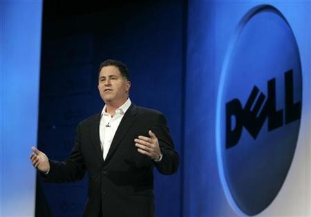 Michael Dell, chairman of Dell Inc., delivers his keynote address at the 2007 International CES (Consumer Electronics Show) in Las Vegas, Nevada in this January 9, 2007 file photo. Dell Inc will soon offer more personal computers that use the Linux operating system instead of Microsoft Corp's Windows, said the founder of a company that offers Linux support services. REUTERS/Rick Wilking
