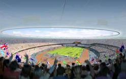 <p>Imagem de simulação criada por computador mostra o interior do estádio dos Jogos de Londres 2012, nesta quarta-feira, dia do lançamento do projeto. Photo by Reuters (Handout)</p>