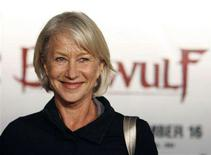"<p>Helen Mirren poses at the premiere of ""Beowulf"" at the Mann Village theatre in Westwood, California November 5, 2007. Mirren won another award on Saturday for her performance in Stephen Frears' ""The Queen"", taking the best actress crown at the 2007 European Film Academy. REUTERS/Mario Anzuoni</p>"