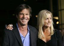 "<p>In this file photo cast member Dennis Quaid and his wife Kimberly arrive at the world premiere of ""American Dreamz"" at the Arclight Cinerama Dome in Hollywood April 11, 2006. Quaid and his wife filed a negligence lawsuit on Tuesday against the makers of a blood thinner given to his newborn twins in an accidental massive overdose last month. REUTERS/Mario Anzuoni</p>"
