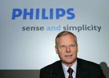 <p>Gerard Kleisterlee, P-DG de Philips. Le groupe néerlandais dit être en passe d'atteindre l'objectif d'une marge d'exploitation de 3% dans ses activités d'électronique grand public cette année. /Photo prise le 22 janvier 2007/REUTERS/Paul Vreeker</p>