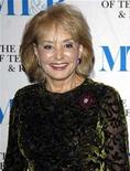 <p>File phot shows Barbara Walters at the Museum of Television & Radio's annual Gala in New York, February 8, 2007. Howard Stringer, Chairman and Chief Executive Officer of Sony Corporation, is honoured this year. Walters, famed for celebrity television interviews that often draw on-screen tears, says she's tired of Britney, Paris and the tabloid trend she helped create. REUTERS/Chip East</p>