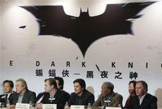 "<p>Producer Charles Roven (2nd L), director Christopher Nolan (3rd L), actor Christian Bale (3rd R), actor Morgan Freeman (2nd R) and executive producer Kevin De La Novy (R) attend a news conference for their upcoming film ""Batman: The Dark Knight"" in Hong Kong, November 9, 2007. REUTERS/Herbert Tsang</p>"