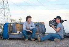 "<p>Emile Hirsch and director Sean Penn on the set of ""Into the Wild"" in an image courtesy of Paramount Vantage. Penn's adventure tale garnered the most Critics' Choice award nominations on Tuesday, including best picture, best actor for Hirsch and best director for Penn. REUTERS/Handout</p>"
