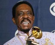 <p>Ike Turner poses with his Grammy for Best Traditional Blues Album for 'Risin With the Blues' at the 49th Annual Grammy Awards in Los Angeles, February 11, 2007. Turner, who rose to fame in the 1950s and became a star performing with his ex-wife Tina Turner, has died at age 76, according to published reports on Wednesday. REUTERS/Mike Blake</p>