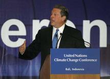 <p>O ex-vice-presidente dos Estados Unidos Al Gore disse nesta quinta-feira que os Estados Unidos são o principal bloqueio às negociações em Bali para um novo tratado sobre mudanças climáticas. Photo by Supri</p>