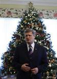 <p>Canada's Prime Minister Stephen Harper sits down for an interview at 24 Sussex Drive, his official residence, in Ottawa December 18, 2007. Picture taken December 18, 2007. REUETRS/Chris Wattie</p>
