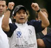 <p>Diego Maradona criticou o mais recente ranking da Fifa, no qual a seleção argentina ocupa a primeira posição -- para ele o time deveria estar em quarto ou em quinto lugar. Photo by Enrique Marcarian</p>