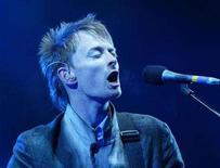 "<p>Thom Yorke, lead singer of ""Radiohead"" performs at the Glastonbury Festival, Somerset, June 28, 2003. Radiohead will perform its new album, ""In Rainbows,"" in its entirety during a pre-taped, hour-long set that will premiere New Year's Eve on TV and the Internet. REUTERS/Toby Melville</p>"