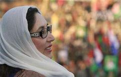 <p>Pakistan's former Prime Minister and opposition leader Benazir Bhutto attends an election rally in Rawalpindi December 27, 2007, shortly before she was killed in a gun and bomb attack. HarperCollins is rushing into print a manuscript it recently received from Bhutto, the New York Post reported on Friday. REUTERS/Mian Khursheed</p>